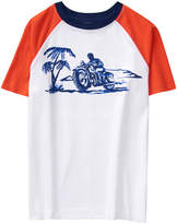 Crazy 8 White & Orange Poppy Moto Raglan Tee - Toddler & Boys