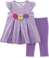 Kids Headquarters 2-Pc. Striped Tunic & Capri Leggings Set, Toddler & Little Girls (2T-6X)