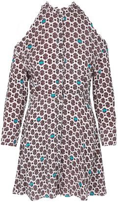 Maje Ralinka Cold-Shoulder Crepe Mini Dress