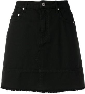 MSGM Frayed Bottom Denim Skirt