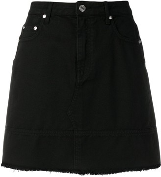MSGM frayed bottom denim skirt