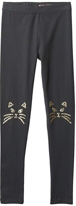 crewcuts by J.Crew Kitty Knees Charcoal (Toddler/Little Kids/Big Kids) (Faded Black) Girl's Casual Pants