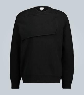 Bottega Veneta Deconstructed knit cashmere sweater