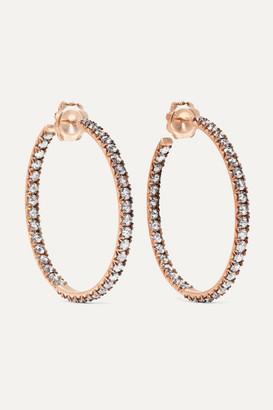 Sylva & Cie 14-karat Rose Gold Diamond Hoop Earrings