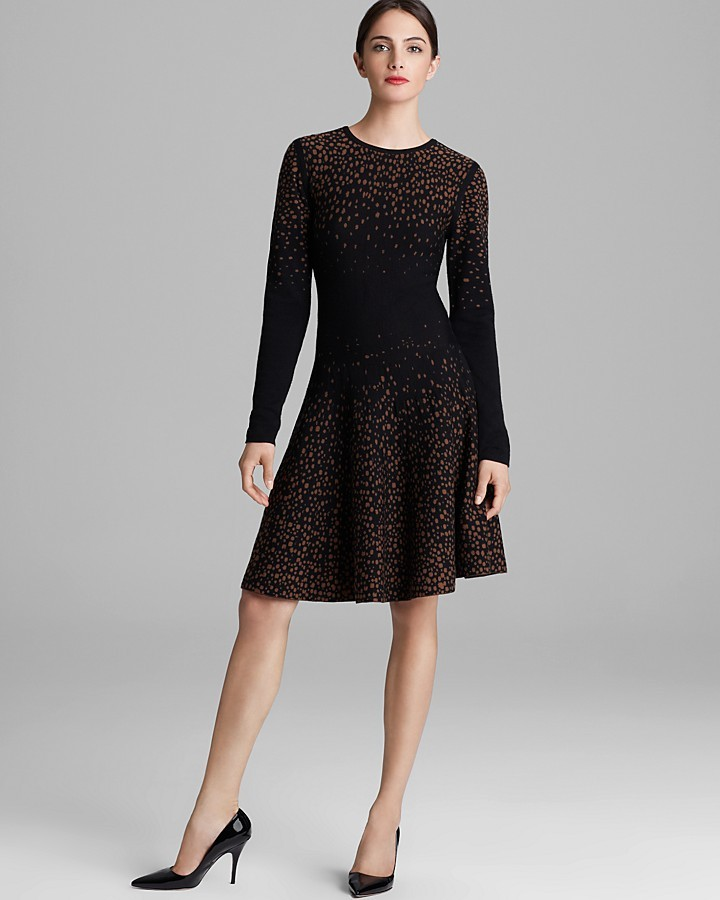 Rachel Roy Dotted Merino Sweater Dress