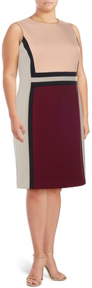 Calvin Klein Collection Colorblocked Sheath Dress