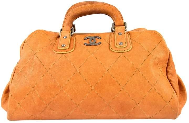 Chanel Orange Leather Handbag