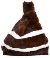 Simonetta Ravizza Furrissima Striped Mink Fur Bag, Brown