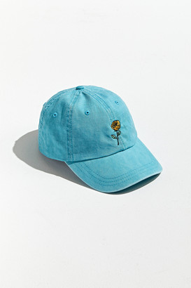 Urban Outfitters Rose Embroidered Washed Baseball Hat