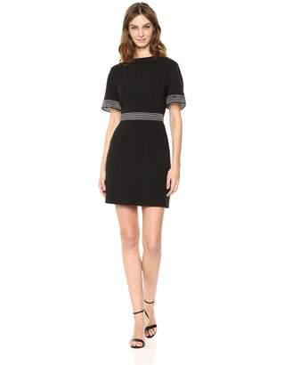 Finders Keepers Finderskeepers findersKEEPERS Women's Firelight Short Sleeve Sheer Detail Mini Dress