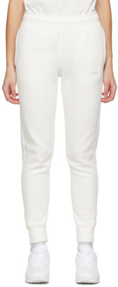 Nike White Fleece Sportswear Club Lounge Pants