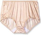 Shadowline Women's Plus-Size Panties - Nylon Modern Brief (3 Pack)