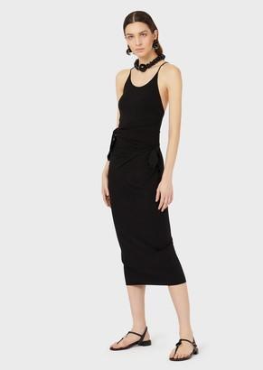 Emporio Armani Stretch Sheath Dress With Bows