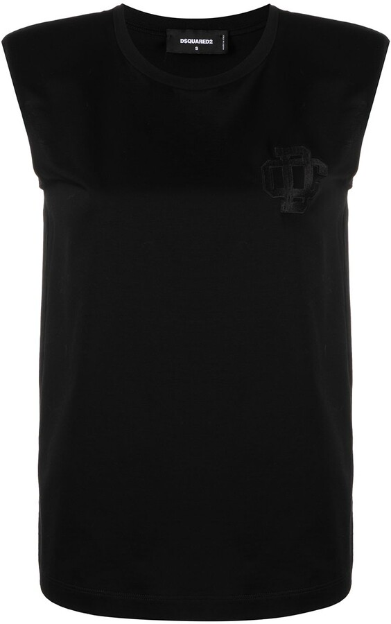 DSQUARED2 Logo-Embroidered Tank Top