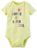Carter's My Auntie Is Super Cool Cotton Bodysuit, Baby Girls (0-24 months)