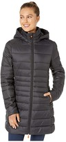Save The Duck Giga 9 Puffer Coat with Removable Hoodie (Black) Women's Clothing