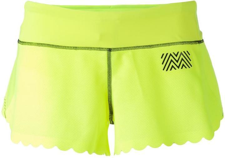 Monreal London scalloped trim shorts