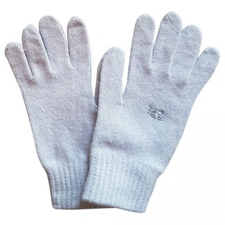 Burberry Blue Cashmere Gloves