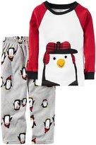 Carter's 2 Piece Penguin PJ Set - Print - 3T