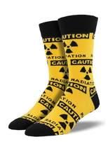 Socksmith Mens Radioactive Socks - Caution