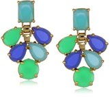 "Kate Spade Boardwalk Stroll"" Green and Blue Chandelier Earrings, 1.75"""