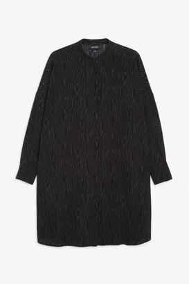 Monki Grandad collar shirt dress