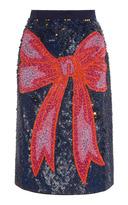 Manoush Sequin Bow Skirt