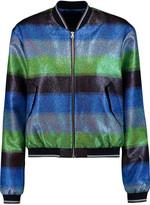 Markus Lupfer Striped metallic lamé jacket