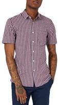 Topman Men's Muscle Fit Check Shirt