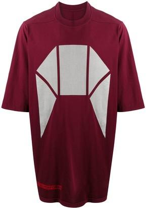 Rick Owens geometric print oversized T-shirt