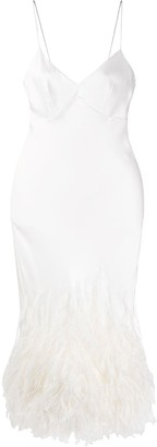 Ermanno Scervino Feather Embellished Slip Dress