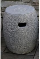 Outdoor Interiors Urban Washed Clay Garden Stool in Grey