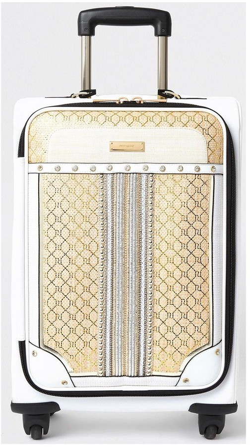 Thumbnail for your product : River Island Gold Weave Suitcase