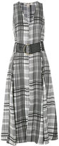 Diane von Furstenberg belted plaid dress - women - Silk/Viscose/Wool - 2