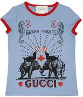 Gucci Circus Printed Cotton Jersey T-Shirt