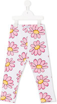 MonnaLisa daisy print leggings - kids - Cotton - 3 yrs