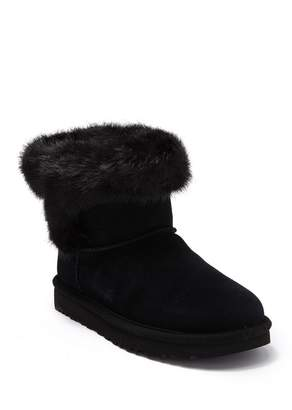 UGG Cathie Suede Faux Fur Short Boot