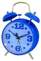 Westclox 75007BL Blue Metal Twin Bell Alarm Clock