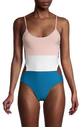 Pilyq Colorblock Cutout One-Piece Swimsuit