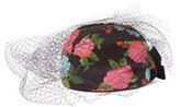 Erdem X Noel Stewart Net-trimmed Floral-print Hat - Womens - Black Multi