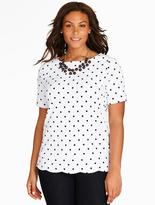 Talbots Scalloped-Hem Tee - Polka Dots