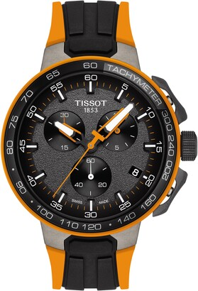 Tissot Men's T-Sport T-Race Cycling Chronograph Silicone Strap Watch, 44.5mm