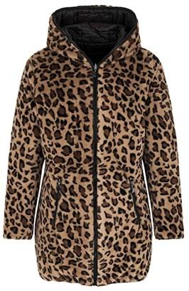Tribal Reversible Puffer with Fur (Black) Women's Coat