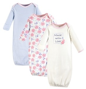 Touched by Nature Unisex Baby Gown 3Pack 0-6 Months