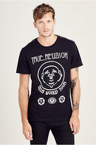 True Religion Hand Picked Elongated Tr World Tour Mens Tee