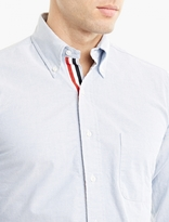 Thom Browne Blue Cotton Oxford Shirt