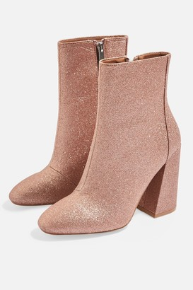 Topshop Womens Bling Glitter Boots - Pink