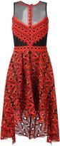 Jonathan Simkhai sheer panel asymmetric dress