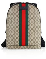 Gucci Large Logo Printed Canvas Backpack