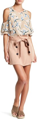 J.o.a. Belted Wrap Skirt